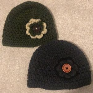 Pair of women's knit hats